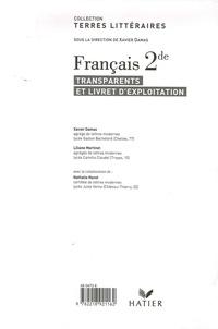 Xavier Damas et Liliane Martinet - Français 2de - Transparents et livret d'exploitation.