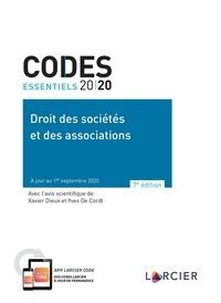 Xavier Dieux et Yves De Cordt - Droit des sociétés et des associations.