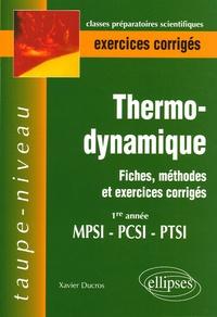 Thermodynamique 1e année MPSI-PCSI-PTSI - Fiches, méthodes et exercices corrigés.pdf