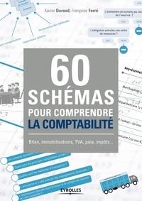 Xavier Durand et Françoise Ferré - 60 schémas pour comprendre la comptabilité - Bilan, immobilisations, TVA, paie, impôts....