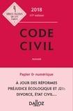 Xavier Henry et Pascal Ancel - Code civil 2018, annoté.