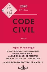 Xavier Henry et Guy Venandet - Code civil 2020, annoté - 119e éd..