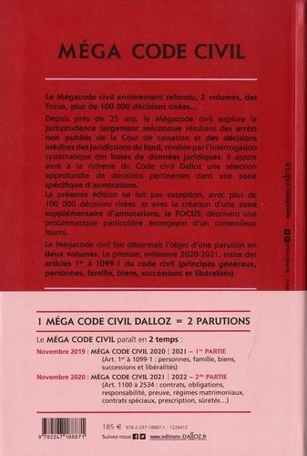 Méga Code civil. 1re partie Art. 1er à 1099-1  Edition 2020-2021