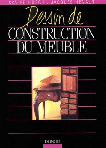 Xavier Hosch et Jacques Hénaut - Dessin de construction du meuble.
