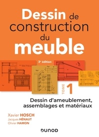 Téléchargez les nouveaux livres pdf Dessin de construction du meuble  - Tome 1, Dessin d'ameublement, assemblages et matériaux 9782100781287 (Litterature Francaise)
