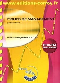 Fiches de management UE 7 du DCG- Fiches de cours - Xavier Picard  