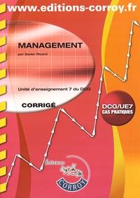 Management UE 7 du DCG- Corrigé - Xavier Picard |