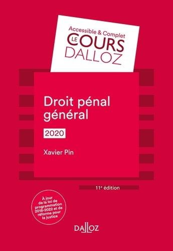 Droit pénal général  Edition 2020