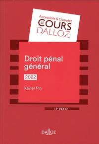 Xavier Pin - Droit pénal général.