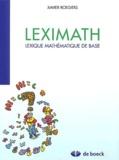 Xavier Roegiers - Leximath - Lexique mathématique de base.