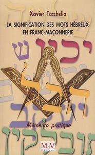 Era-circus.be La signification des mots hébreux en Franc-Maçonnerie - Mémento pratique Image