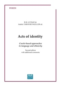 XXX - Acts ot identity - Creole-based approaches to language and ethnicity - Second edition with additional comments.