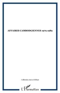 XXX - Affaires cambodgiennes 1979 1989.