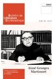 XXX - Bulletin de Littérature Ecclésiastique n°482 - Avril- Juin 2020 - Aimé-Georges Martimort CXX/2.