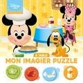 XXX - DISNEY BABY - Mes Premiers Pas - Mon Imagier Puzzle - À table - 20 Pièces.