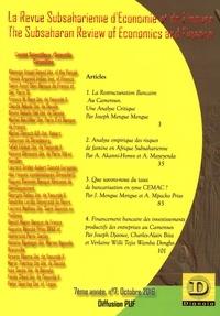XXX - La Revue Subsaharienne d'Economie et de Finance - 7 The Subsaharian Review of Economics and Finance - 7ème année, n°7, octobre 2016.
