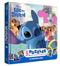 XXX - LILO ET STITCH - Mon Petit Livre Puzzle - 5 puzzles 9 pièces - Disney.