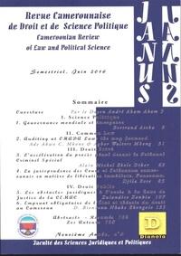 XXX - Revue Camerounaise de Droit et Science Politique (Janus 5) - 5 Cameroonian Review of Law and Political Science.