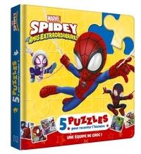 XXX - SPIDER-MAN - Mon Petit Livre Puzzle - 5 puzzles 9 pièces - Marvel.
