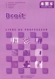 Yamina Kacimi-Charfeddine et Martine Kaddouch - BTS 2e Année Droit - Livre du professeur.