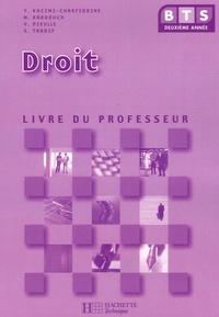 BTS 2e Année Droit- Livre du professeur - Yamina Kacimi-Charfeddine |