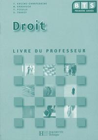 Yamina Kacimi et Martine Kaddouch - Droit BTS 1e année - Livre du professeur.