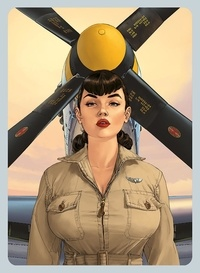 Yann et Romain Hugault - Angel Wings Tome 6 : Atomic - Coffret avec cale et poster 40x60cm.