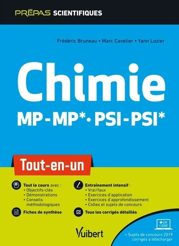 Chimie MP-MP* PSI-PSI*. Tout-en-un