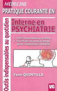 Yann Quintilla - Interne en psychiatrie.