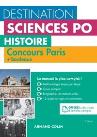 Yannick Clavé - Destination Sciences Po Histoire - Concours Paris + Bordeaux.
