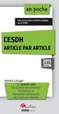 Yannick Lécuyer - CESDH article par article.