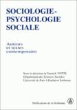 Collectif et Yannick Yotte - Sociologie-psychologie sociale. - Auteurs et textes contemporains.