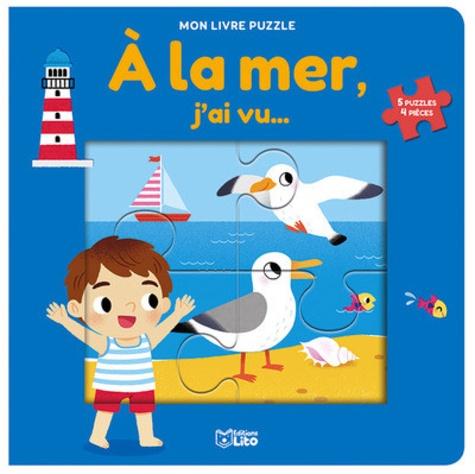 A la mer, j'ai vu.... 5 puzzles 4 pièces
