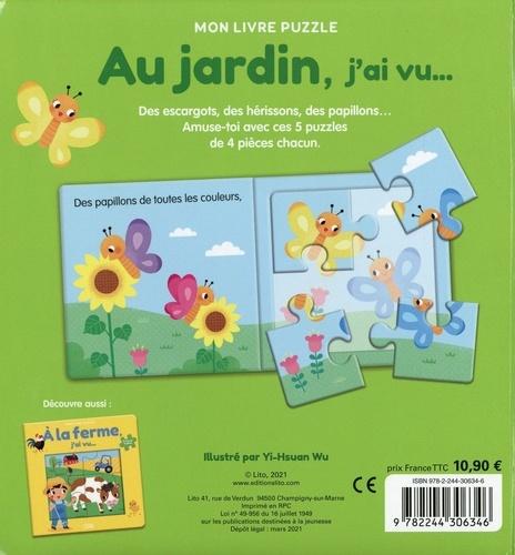 Au jardin, j'ai vu.... 5 puzzles 4 pièces