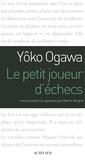 Yoko Ogawa - Le petit joueur d'échecs.