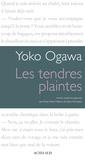 Yoko Ogawa - Les tendres plaintes.