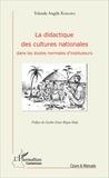 Yolande Angèle Kamaha - La didactique des cultures nationales dans les écoles normales d'instituteurs.