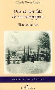 Yolande Moyne Larpin - Dits et non-dits de nos campagnes - Histoires de rien.