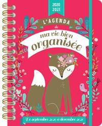 Yolande Six - L'agenda de ma vie bien organisée - De septembre 2020 à décembre 2021.