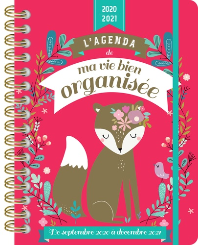 L'agenda de ma vie bien organisée. De septembre 2020 à décembre 2021  Edition 2020-2021