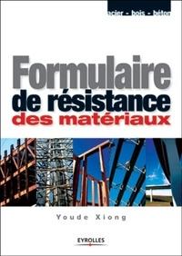 Formulaire de résistance des matériaux - Youde Xiong   Showmesound.org
