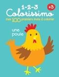 Yoyo Books - Mes 100 premiers mots à colorier - Une poule.