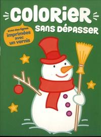 Yoyo éditions - Colorier sans dépasser Bonhomme de neige.
