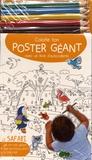 Yoyo éditions - Le safari - 1 poster + 200 autocollants + 5 crayons de couleur.