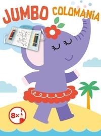 Yoyo - L'éléphant - Avec 8 crayons de couleur.