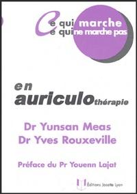Yunsan Meas et Yves Rouxeville - En auriculothérapie.