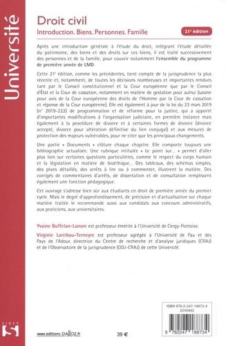 Droit civil. Introduction, biens, personnes, famille  Edition 2019-2020