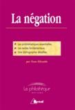 Yvan Elissalde - La négation - Dissertation.