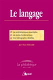 Yvan Elissalde - Le langage - Dissertation.