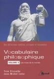Yvan Elissalde et Jean-Michel Leder - Vocabulaire philosophique - Volume 5, Les mots de la morale.